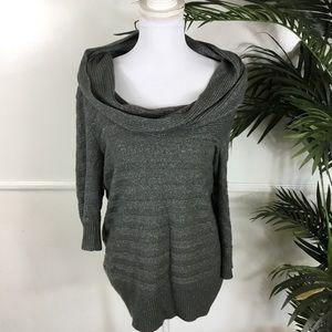 Torrid Gray Shimmer Cowl Sweater Womens Plus 1X